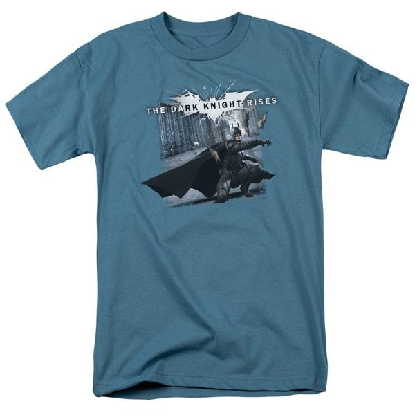 Dark Knight Rises/Batarang Throw Short Sleeve Adult T-Shirt 18/1 in Slate