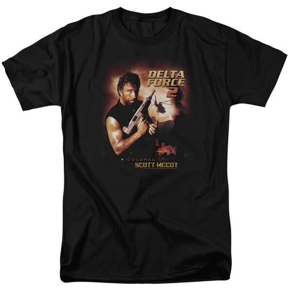 MGM/Delta Force/Delta Force 2 Poster Short Sleeve Adult T-Shirt 18/1 in Black