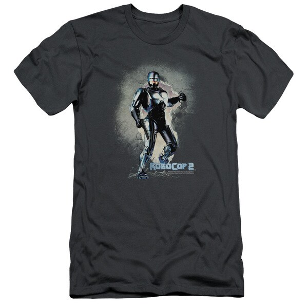 MGM/Robocop/Break On Through Short Sleeve Adult T-Shirt 30/1 in Charcoal