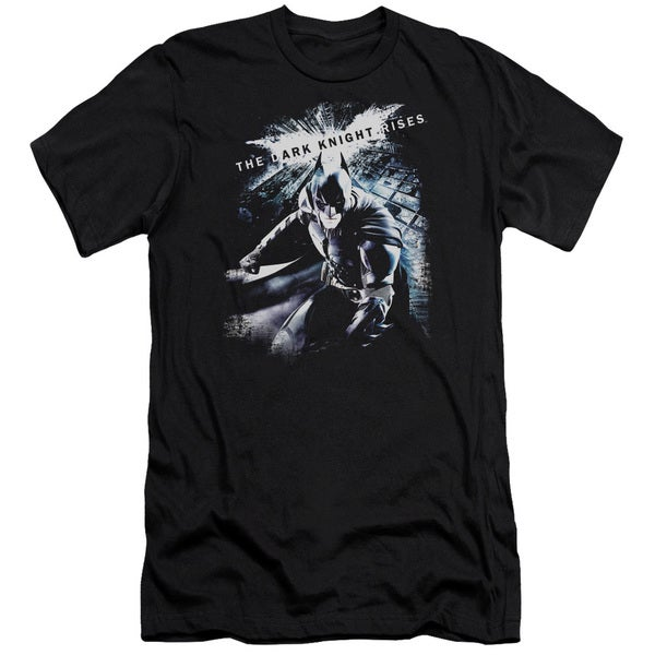 Dark Knight Rises/More Than A Man Short Sleeve Adult T-Shirt 30/1 in Black