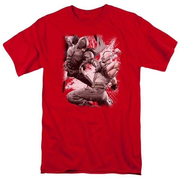 Dark Knight Rises/Final Fight Short Sleeve Adult T-Shirt 18/1 in Red