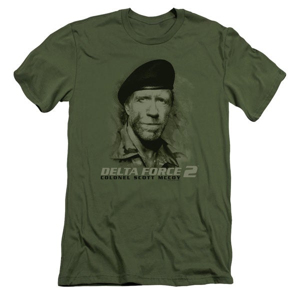 Delta Force 2/You Can't See Me Short Sleeve Adult T-Shirt 30/1 in Military Green