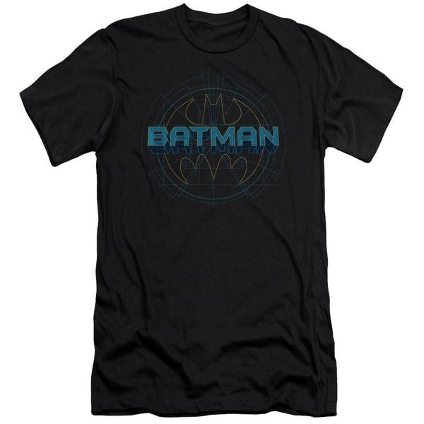 Batman/Bat Tech Logo Short Sleeve Adult T-Shirt 30/1 in Black