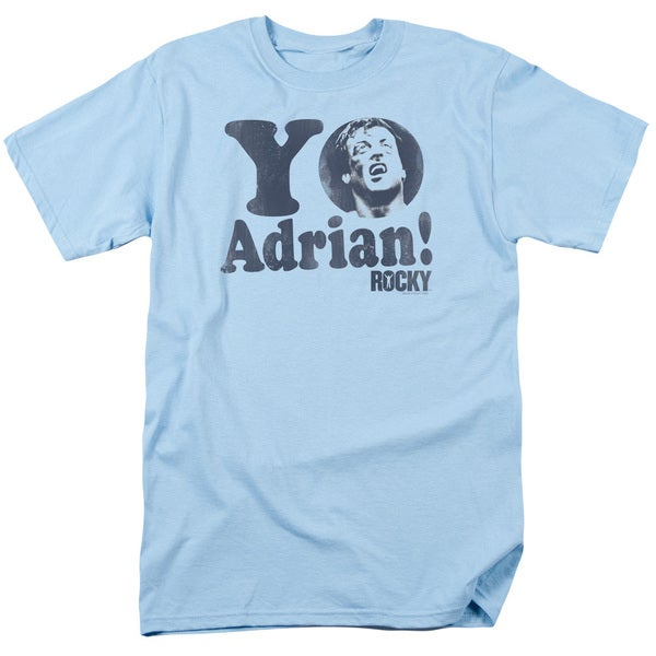 MGM/Rocky/Yo Adrian Short Sleeve Adult T-Shirt 18/1 in Light Blue