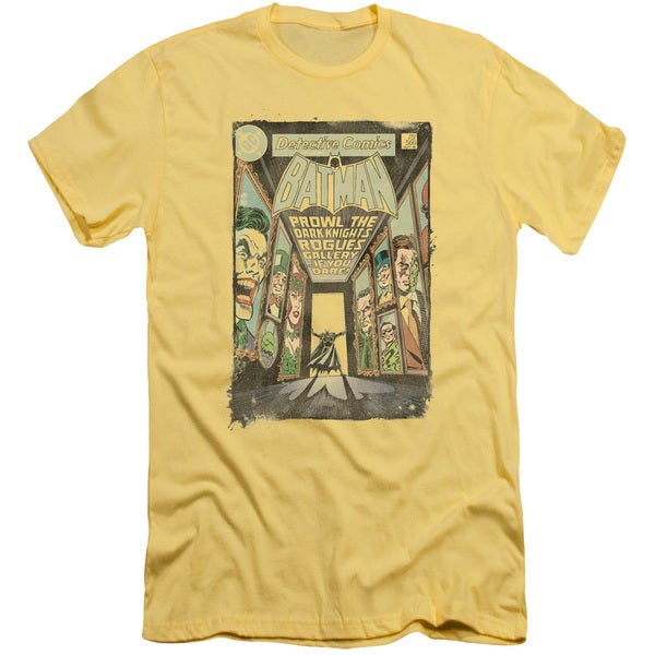 Batman/Rogues Gallery Cover Short Sleeve Adult T-Shirt 30/1 in Banana