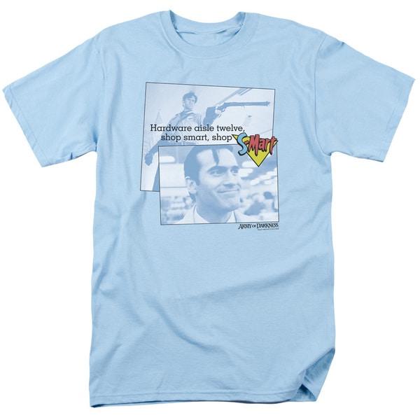 Army Of Darknesshort Sleevehop S Mart Short Sleeve Adult T-Shirt 18/1 in Light Blue