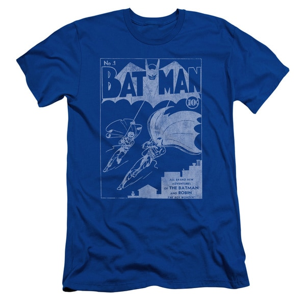 Batman/Issue 1 Cover Short Sleeve Adult T-Shirt 30/1 in Royal