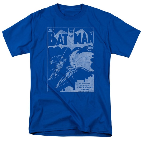 Batman/Issue 1 Cover Short Sleeve Adult T-Shirt 18/1 in Royal