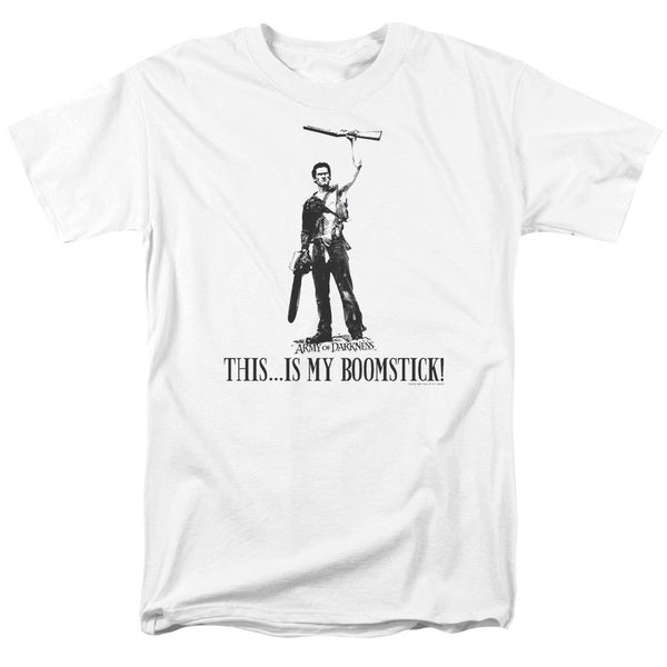 MGM/Army Of Darkness/Boomstick! Short Sleeve Adult T-Shirt 18/1 in White