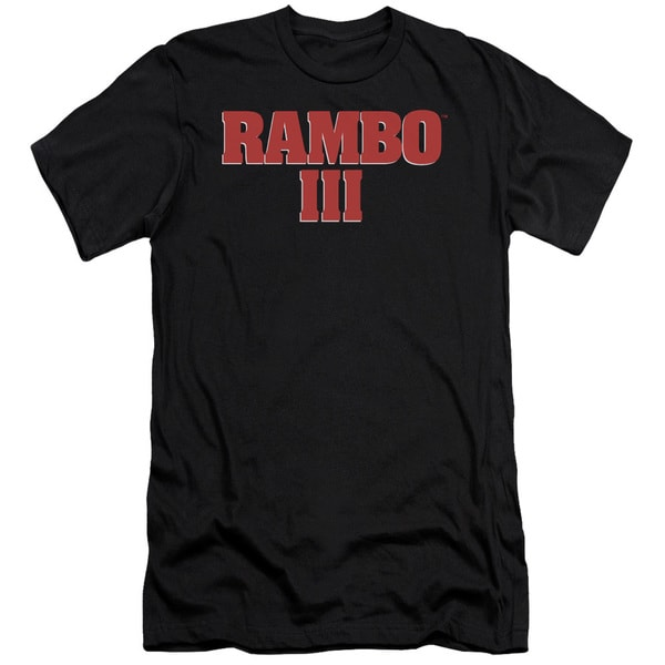 Rambo Iii/Logo Short Sleeve Adult T-Shirt 30/1 in Black