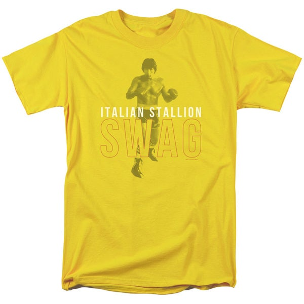 MGM/Rocky/Stallion Swag Short Sleeve Adult T-Shirt 18/1 in Yellow