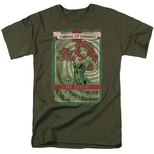 Batman/Botanical Beauty Short Sleeve Adult T-Shirt 18/1 in Military Green