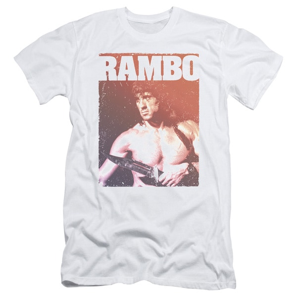 Rambo Iii/Creep Short Sleeve Adult T-Shirt 30/1 in White