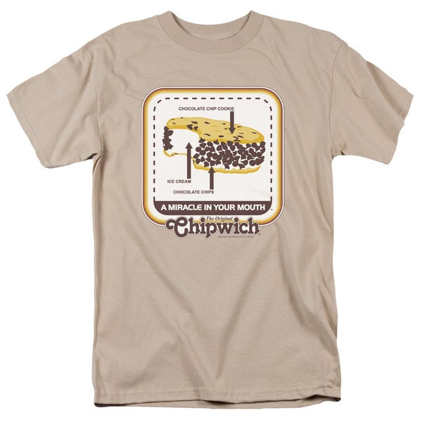Chipwich/Mouth Miracle Short Sleeve Adult T-Shirt 18/1 in Sand