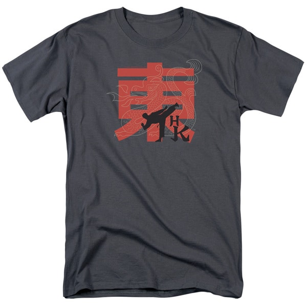 Hai Karate/Hk Kick Short Sleeve Adult T-Shirt 18/1 in Charcoal