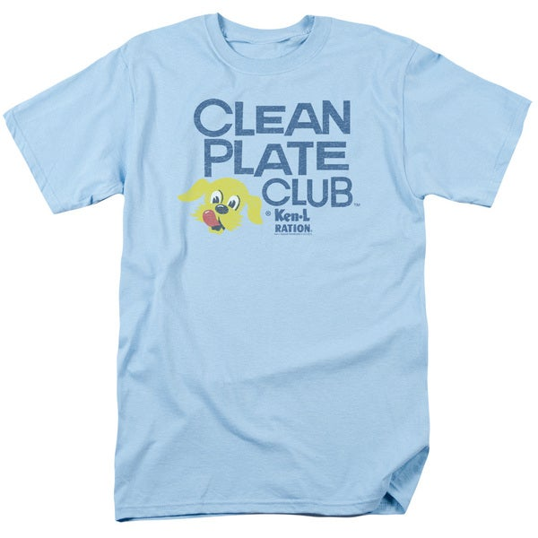 Ken L Ration/Clean Plate Short Sleeve Adult T-Shirt 18/1 in Light Blue