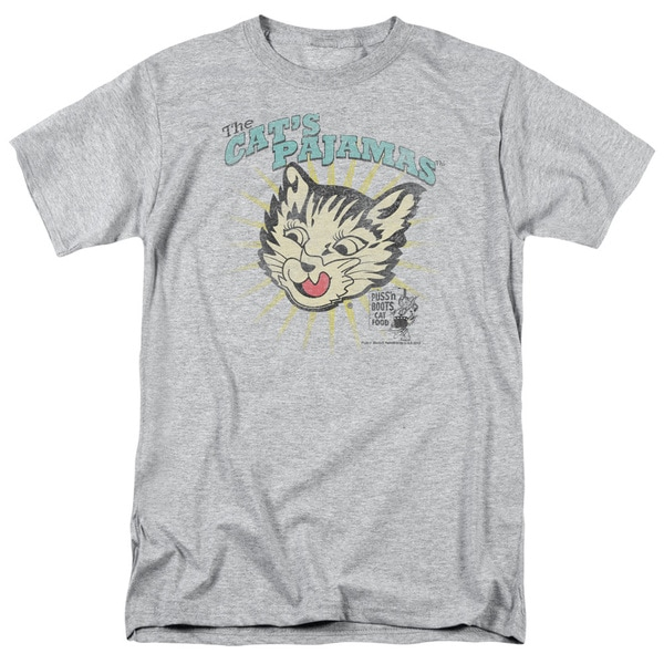 Puss N Boots/Cats Pajamas Short Sleeve Adult T-Shirt 18/1 in Heather