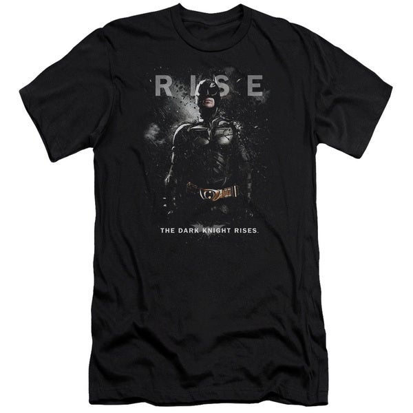 Dark Knight Rises/Batman Rise Short Sleeve Adult T-Shirt 30/1 in Black