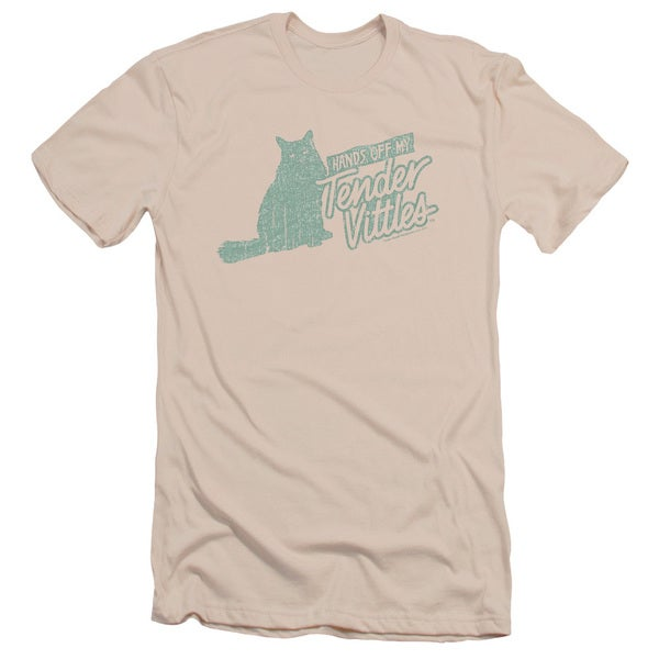 Tender Vittles/Hands Off Short Sleeve Adult T-Shirt 30/1 in Cream