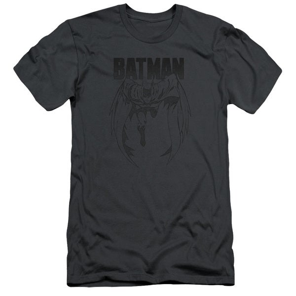 Batman/Grey Noise Short Sleeve Adult T-Shirt 30/1 in Charcoal