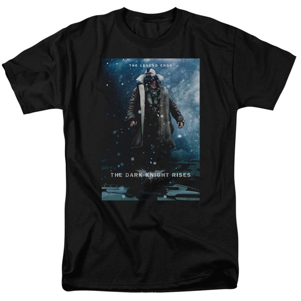 Dark Knight Rises/Bane Poster Short Sleeve Adult T-Shirt 18/1 in Black