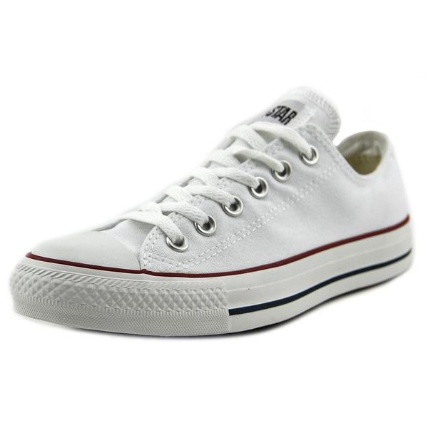 Converse Men's Chuck Taylor All Star Core Ox White Canvas Athletic Shoes