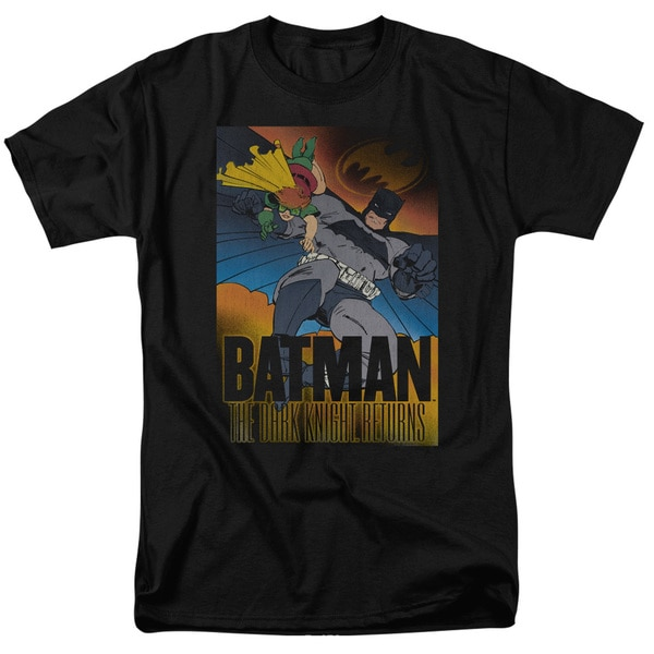 Batman/Dk Returns Short Sleeve Adult T-Shirt 18/1 in Black