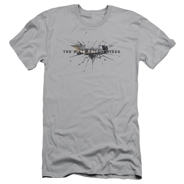 Dark Knight Rises/Rise Logo Short Sleeve Adult T-Shirt 30/1 in Silver