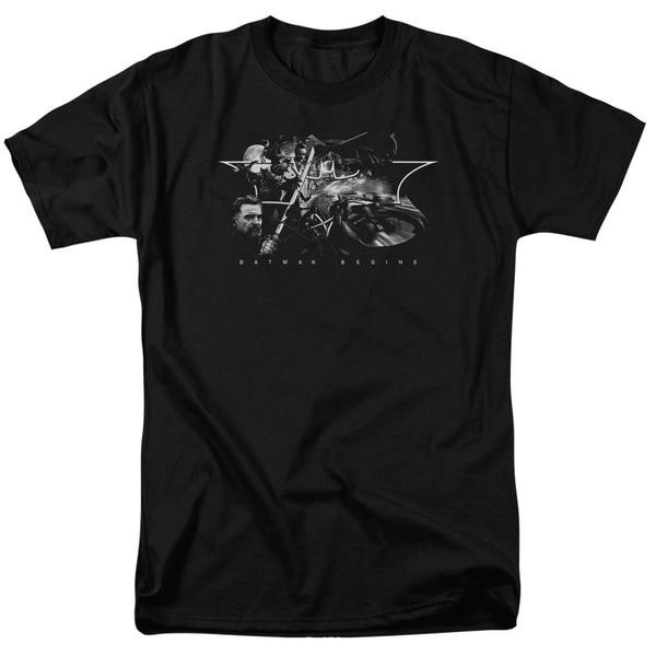 Batman Begins/Night Natives Short Sleeve Adult T-Shirt 18/1 in Black