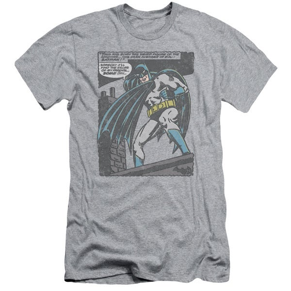 Batman/Bat Origins Short Sleeve Adult T-Shirt 30/1 in Athletic Heather