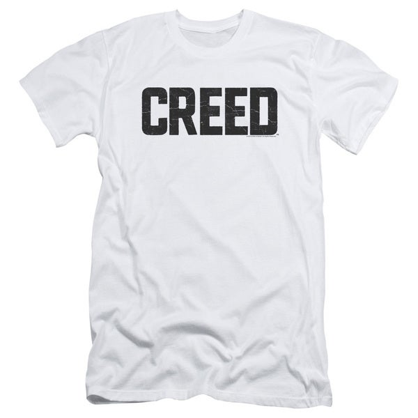 Creed/Cracked Logo Short Sleeve Adult T-Shirt 30/1 in White