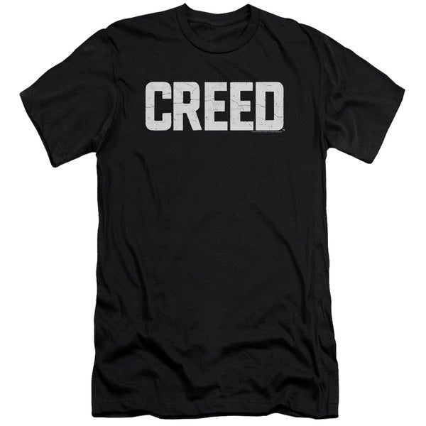Creed/Cracked Logo Short Sleeve Adult T-Shirt 30/1 in Black