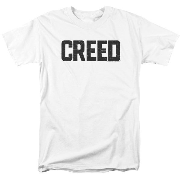 Creed/Cracked Logo Short Sleeve Adult T-Shirt 18/1 in White