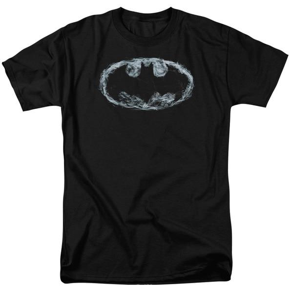 Batman/Smoke Signal Short Sleeve Adult T-Shirt 18/1 in Black