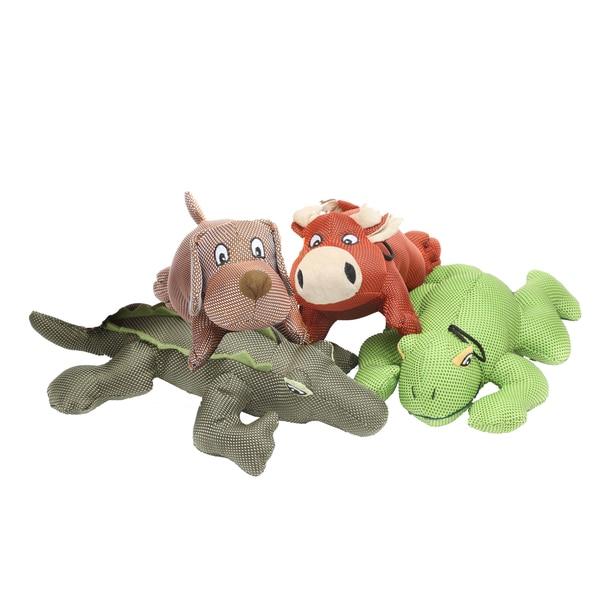 Multipet Dazzlers Ballistic Nylon Assorted Plush Squeaker Dog Toys