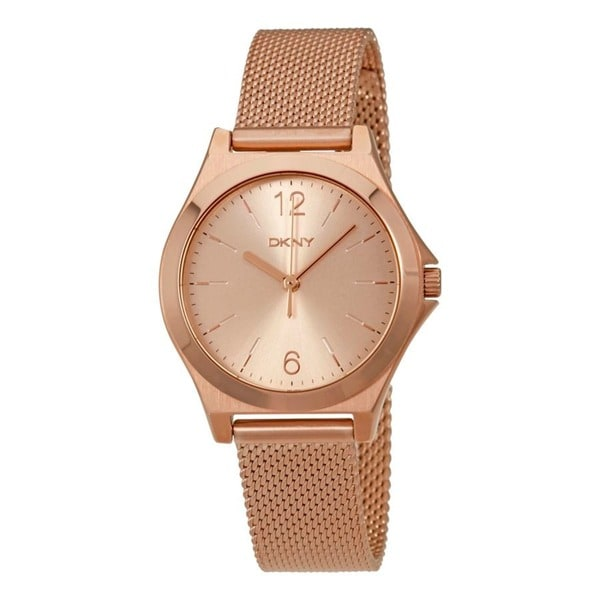 DKNY Women's NY2489 'Parsons' Rose-Tone Stainless Steel Watch