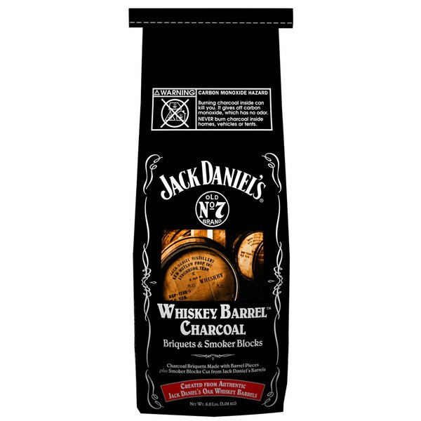 Jack Daniels 211-134-417 4 Lb Whiskey Barrel Charcoal Briquets & Smoker