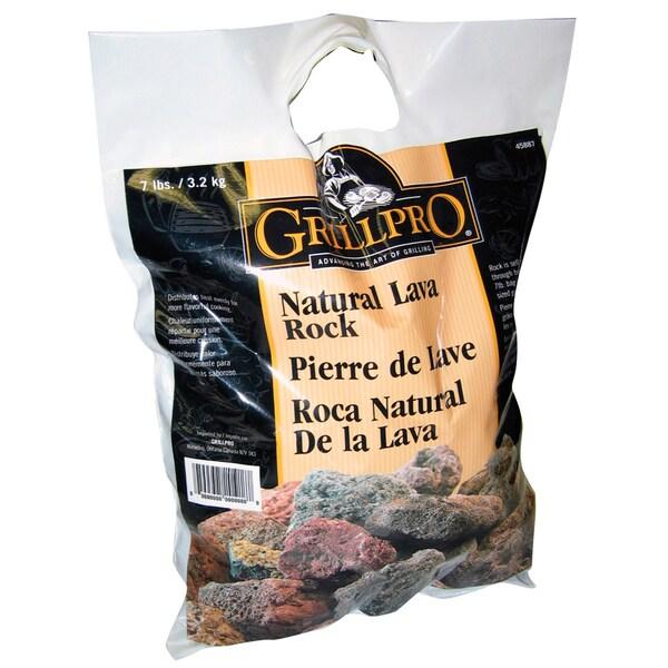 GrillPro 45887 7 Lb Natural Lava Rock