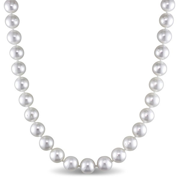 Miadora Signature Collection 14k Yellow Gold South Sea Pearl Strand Necklace (8.5-10mm)