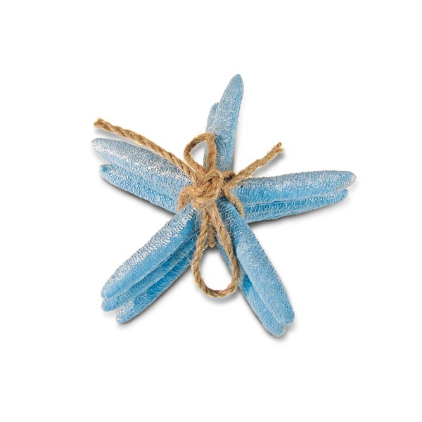 Puzzled Nautical Decor Collection Blue Resin Starfish Figurine 20131410