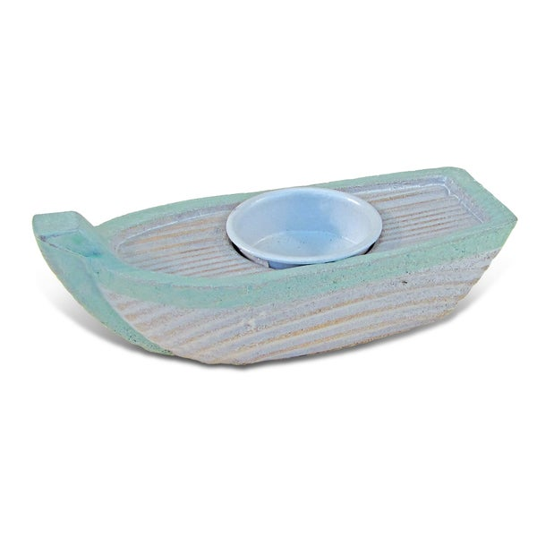 Nautical Decor - Ocean Breeze Boat Candle Holder