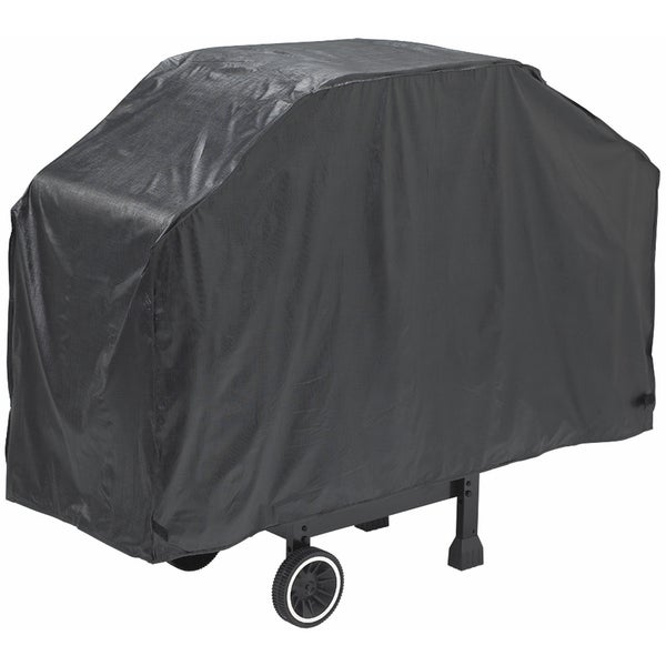 "GrillPro 50068 68"" X 21"" X 40"" Black Heavy-Duty Grill Cover"