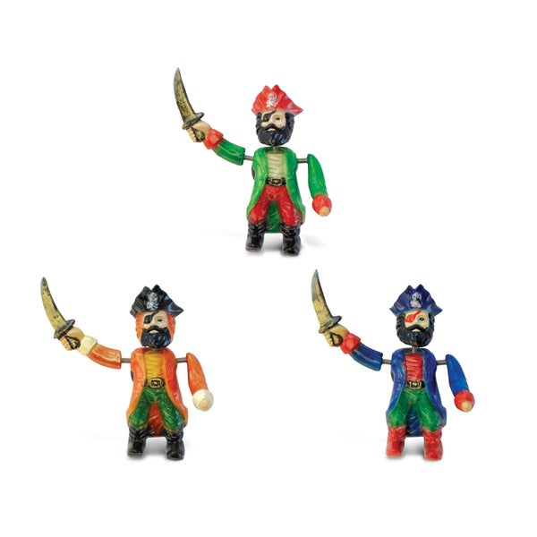 Pirate Captain 2 Bobble Magnets (Pack of 3)