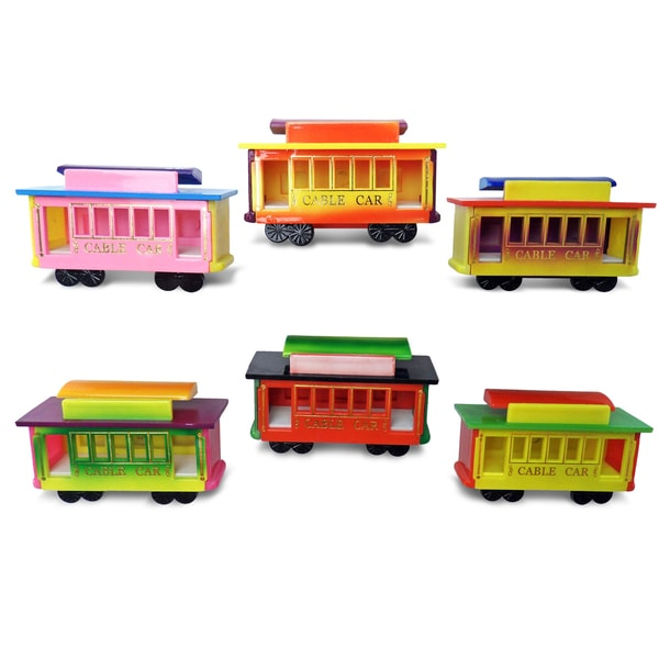 Puzzled Inc. Cable Car Multicolored Plastic Bobble Magnet