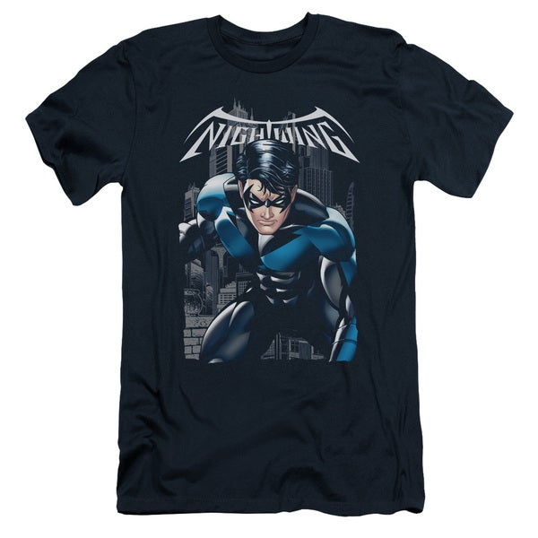 Batman/A Legacy Short Sleeve Adult T-Shirt 30/1 in Navy
