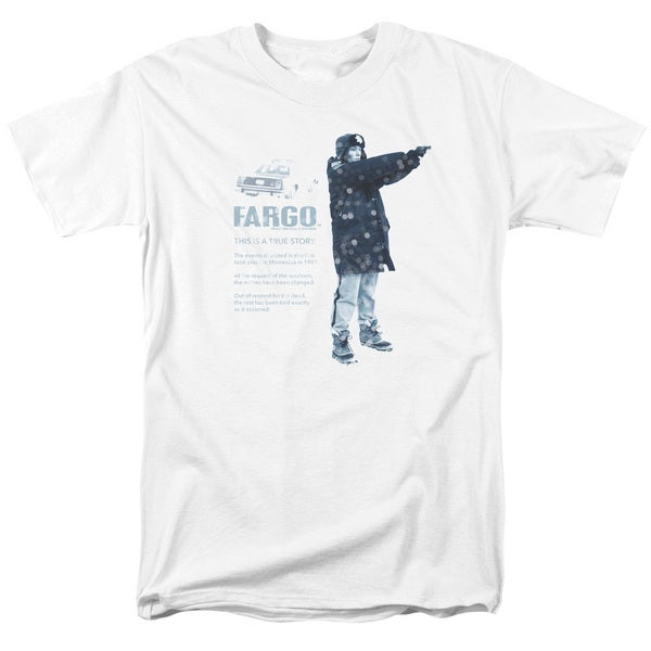 Fargo/This Is A True Story Short Sleeve Adult T-Shirt 18/1 in White