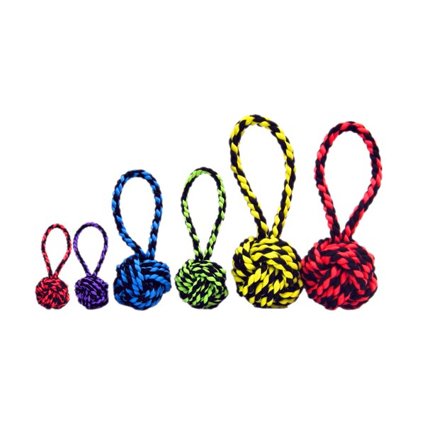 Multipet Nuts for Knots Tug Dog Toys (Set of 6)