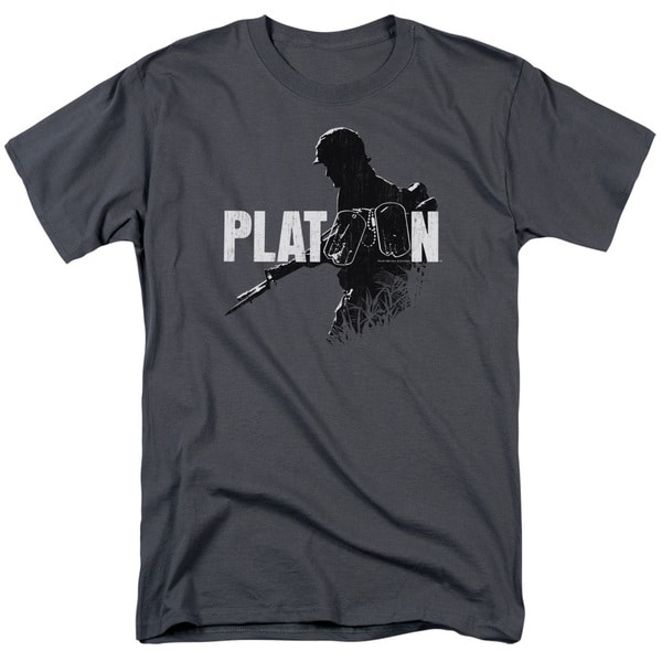 Platoon/Shadow Of War Short Sleeve Adult T-Shirt 18/1 in Charcoal