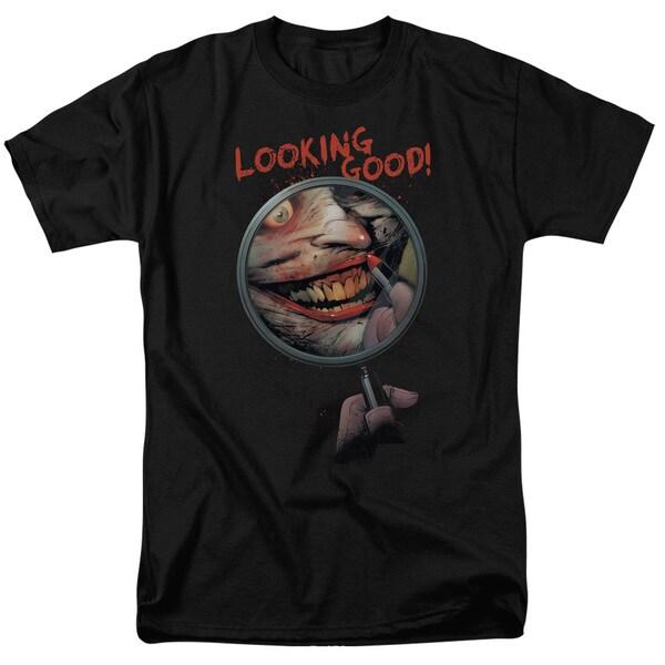 Batman/Looking Good Short Sleeve Adult T-Shirt 18/1 in Black