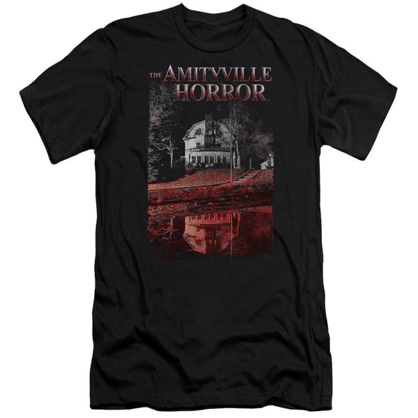 Amityville Horror/Cold Blood Short Sleeve Adult T-Shirt 30/1 in Black